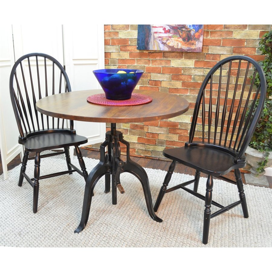 CAROLINA COTTAGE Bently Wood Round Extending Dining Table