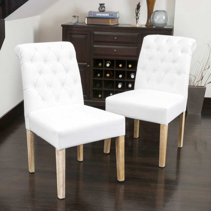 Best selling home decor set of 2 dinah white side chairs