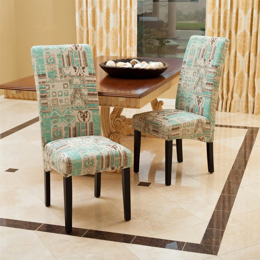 Best Selling Home Decor Set of 2 Binghampton Teal Side Chairs