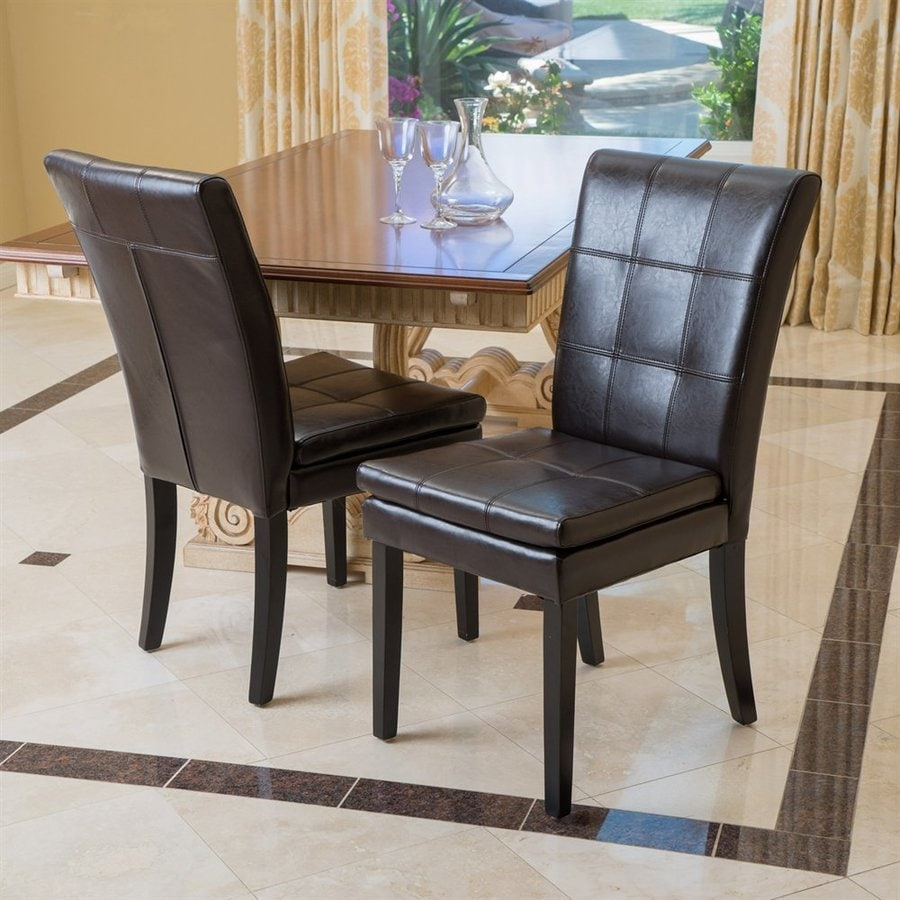 Best Selling Home Decor Set Of 2 Gala Transitional Brown Side Chair