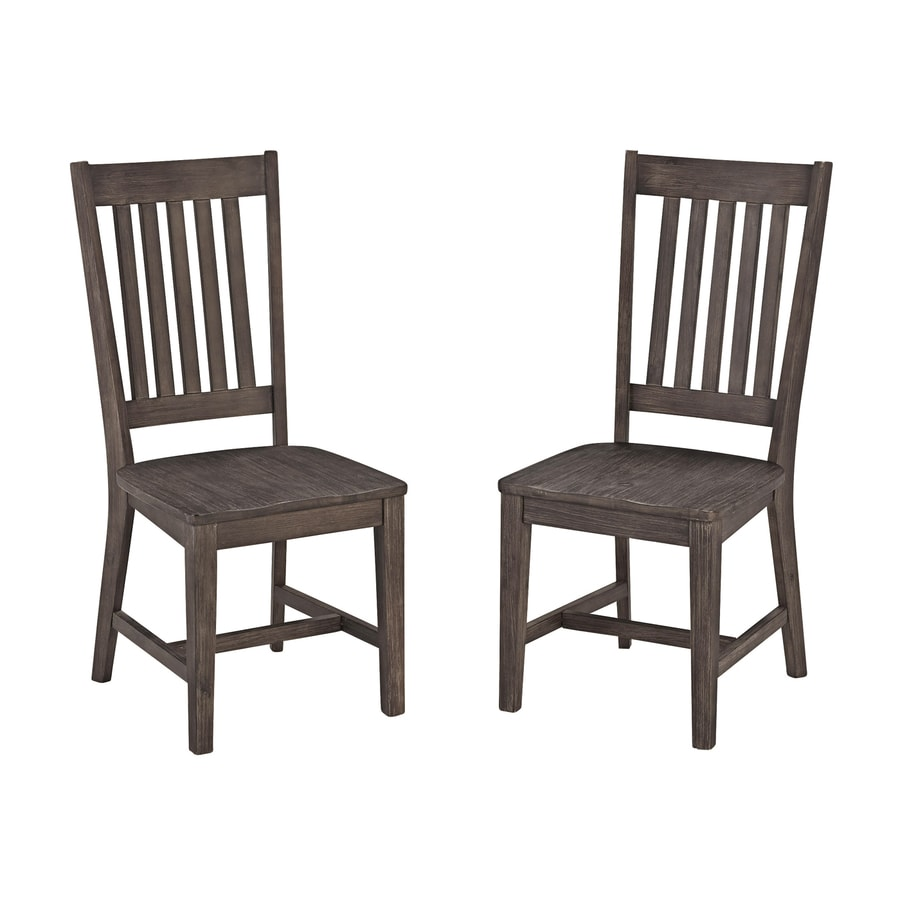 Home Styles Set of 2 Concrete Chic Mission/Shaker Side Chairs