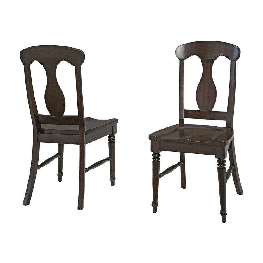 Home Styles Set of 2 Bermuda Contemporary Espresso Side Chairs