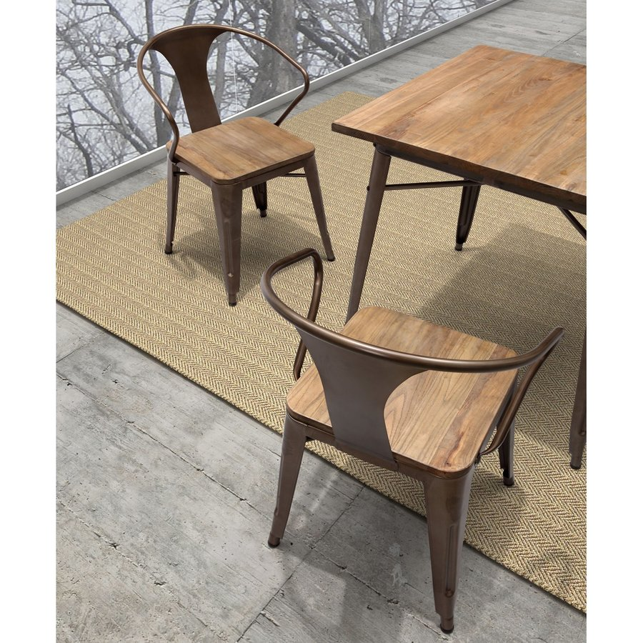 Zuo Modern Set of 2 Helix Rustic Side Chairs