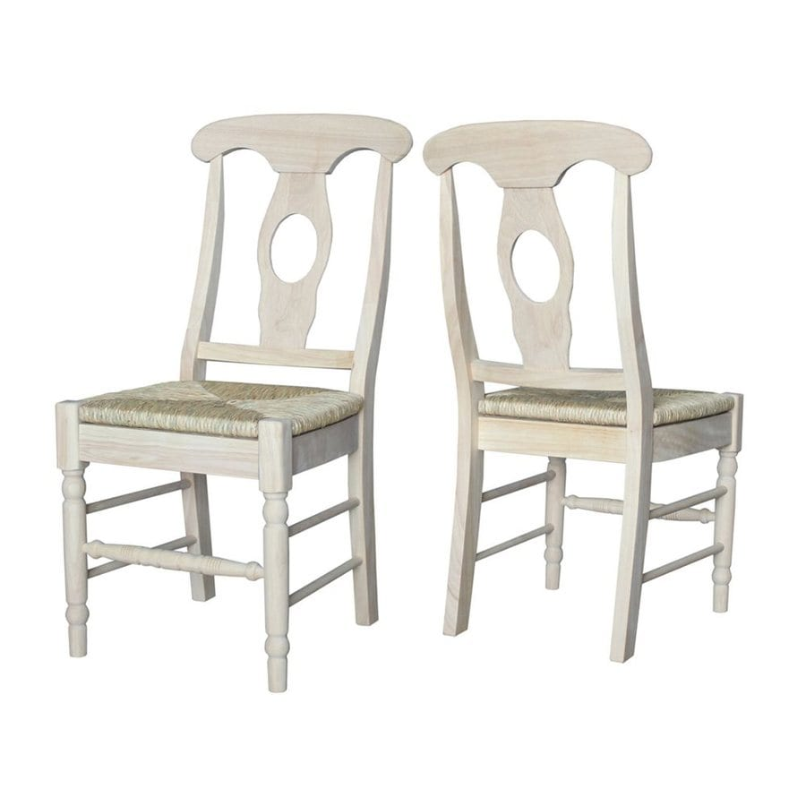 International Concepts Set of 2 Country Side Chairs