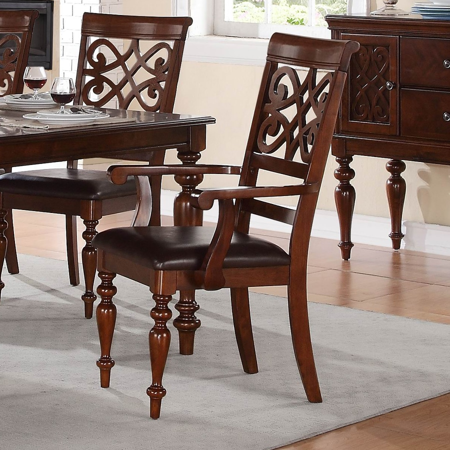 Homelegance Set of 2 Creswell Traditional Arm Chairs