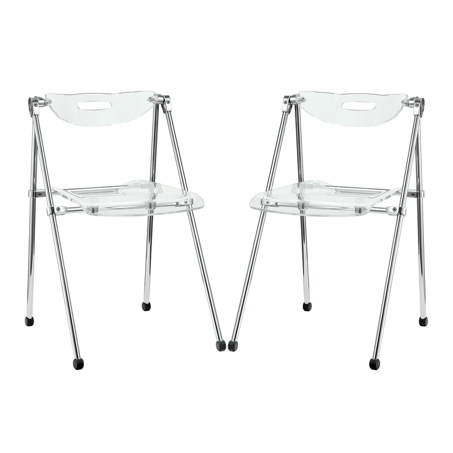 Modway 2-Pack Indoor Clear Standard Folding Chair
