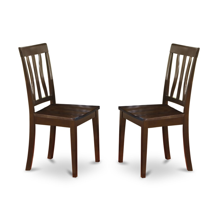 East West Furniture Set of 2 Antique Cappuccino Side Chairs - Shop East West Furniture Set Of 2 Antique Cappuccino Side Chairs At