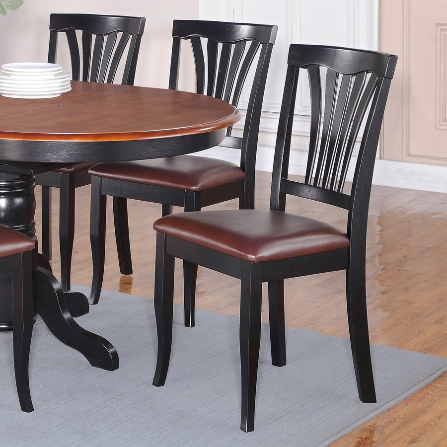 East West Furniture Set of 2 Avon Casual Side Chairs
