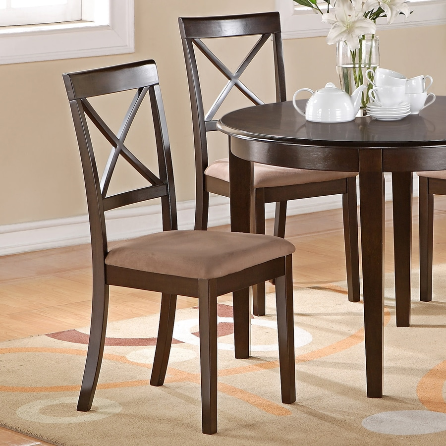 East West Furniture Set of 2 Boston Side Chairs