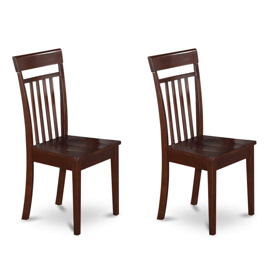 East West Furniture Set of 2 Capri Side Chairs
