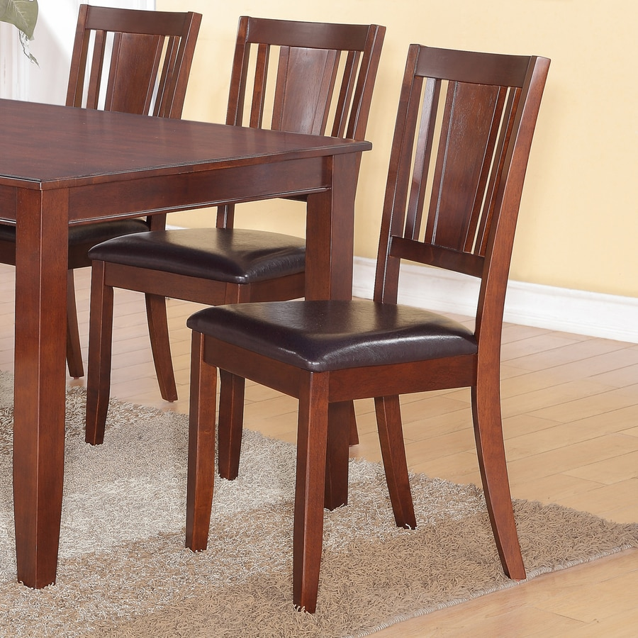 East West Furniture Set of 2 Dudley Casual Side Chairs