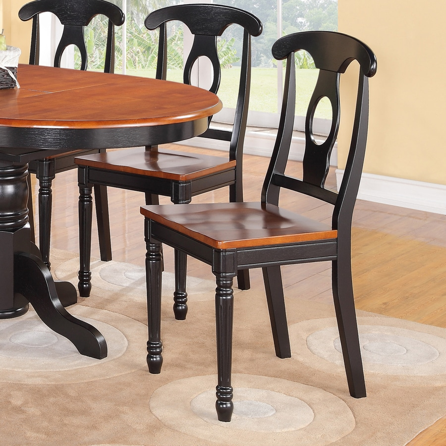 East West Furniture Set of 2 Kenley Country Side Chairs