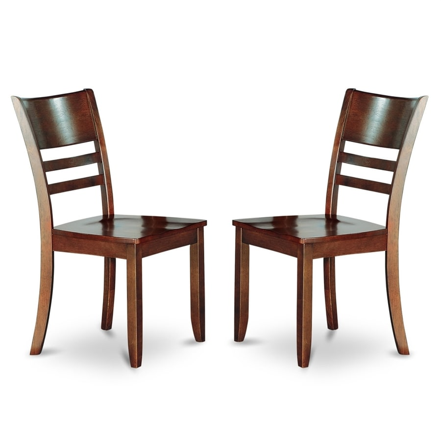 East West Furniture Set of 2 Lynfield Side Chairs