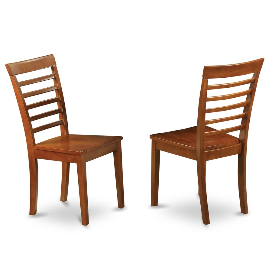 East West Furniture Set of 2 Milan Side Chairs