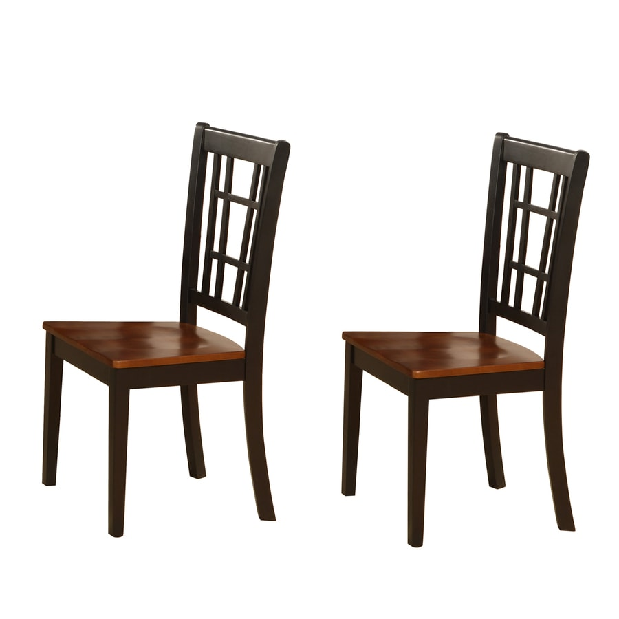 East West Furniture Set of 2 Nicoli Casual Side Chairs