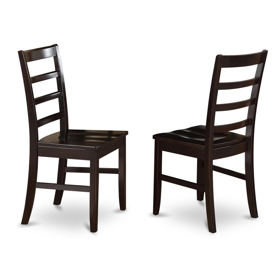 East West Furniture Set of 2 Parfait Cappuccino Side Chair