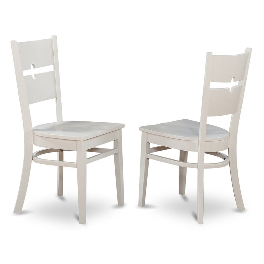 East West Furniture Set of 2 Shelton Linen White Side Chair