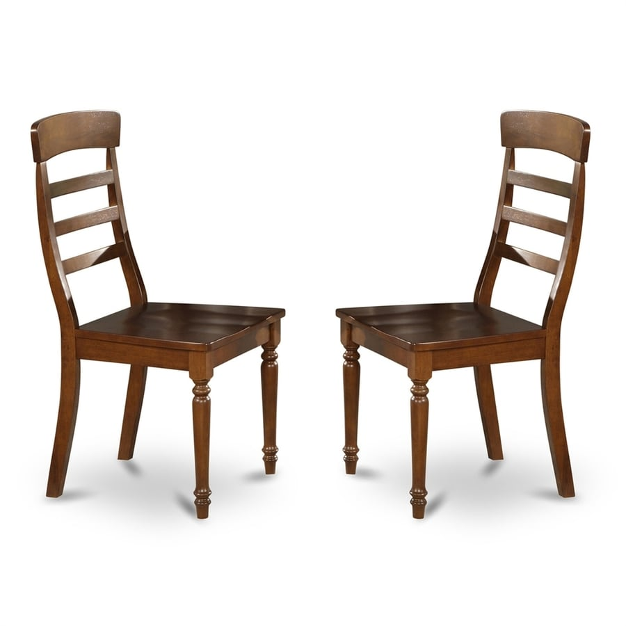 East West Furniture Set of 2 Vintage Side Chairs