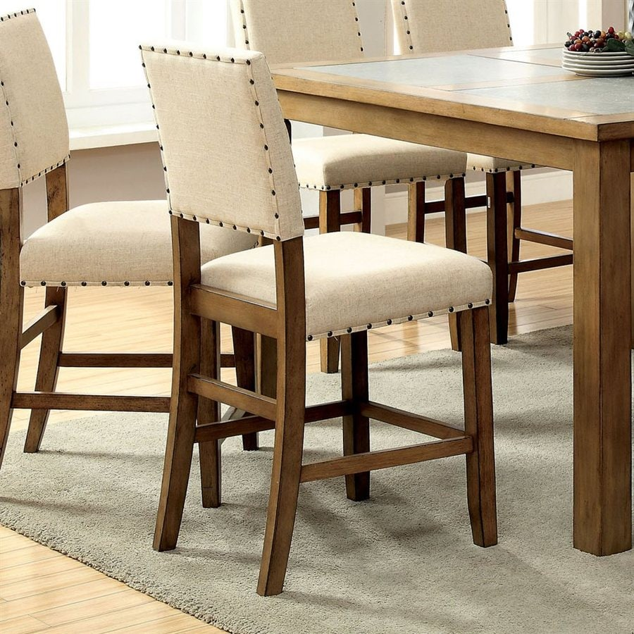 Furniture of America Set of 2 Melston Casual Side Chairs