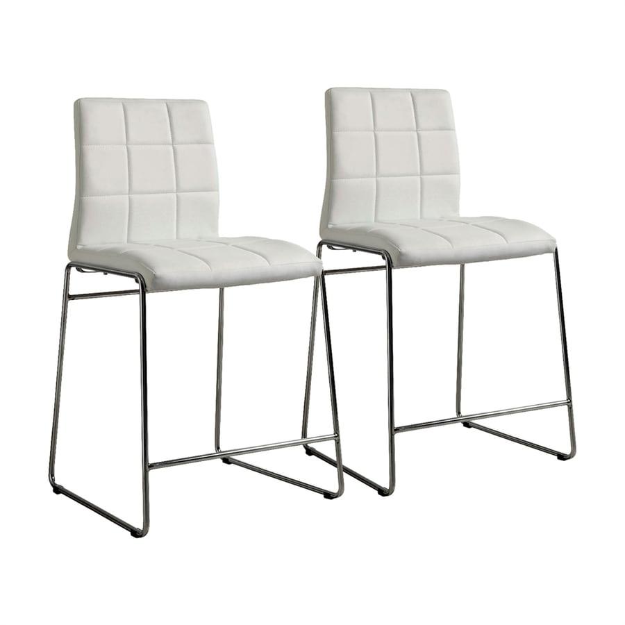 Furniture of America Kona White Counter Stool
