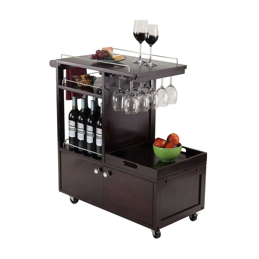 Winsome Wood Brown Midcentury Kitchen Cart At Lowes.com