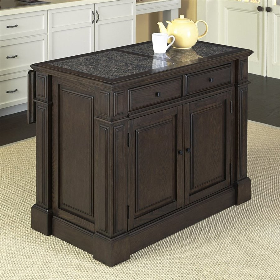 Home Styles Brown Eclectic Kitchen Island