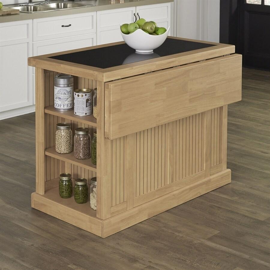 Home Styles Brown Midcentury Kitchen Islands