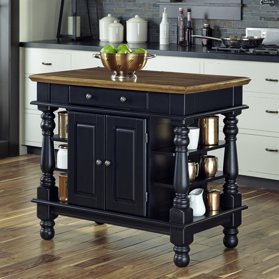 Black Kitchen Islands: Home Styles Black Farmhouse Kitchen Islands At Lowes.com