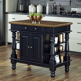 Home Styles Black Farmhouse Kitchen Islands
