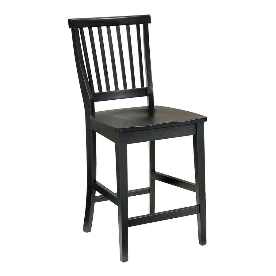Home Styles Arts and Crafts Mission/Shaker Ebony Counter Stool