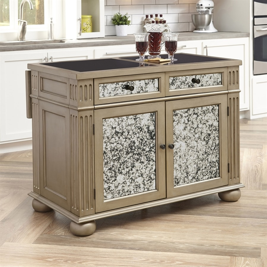 Home Styles Brown Midcentury Kitchen Island