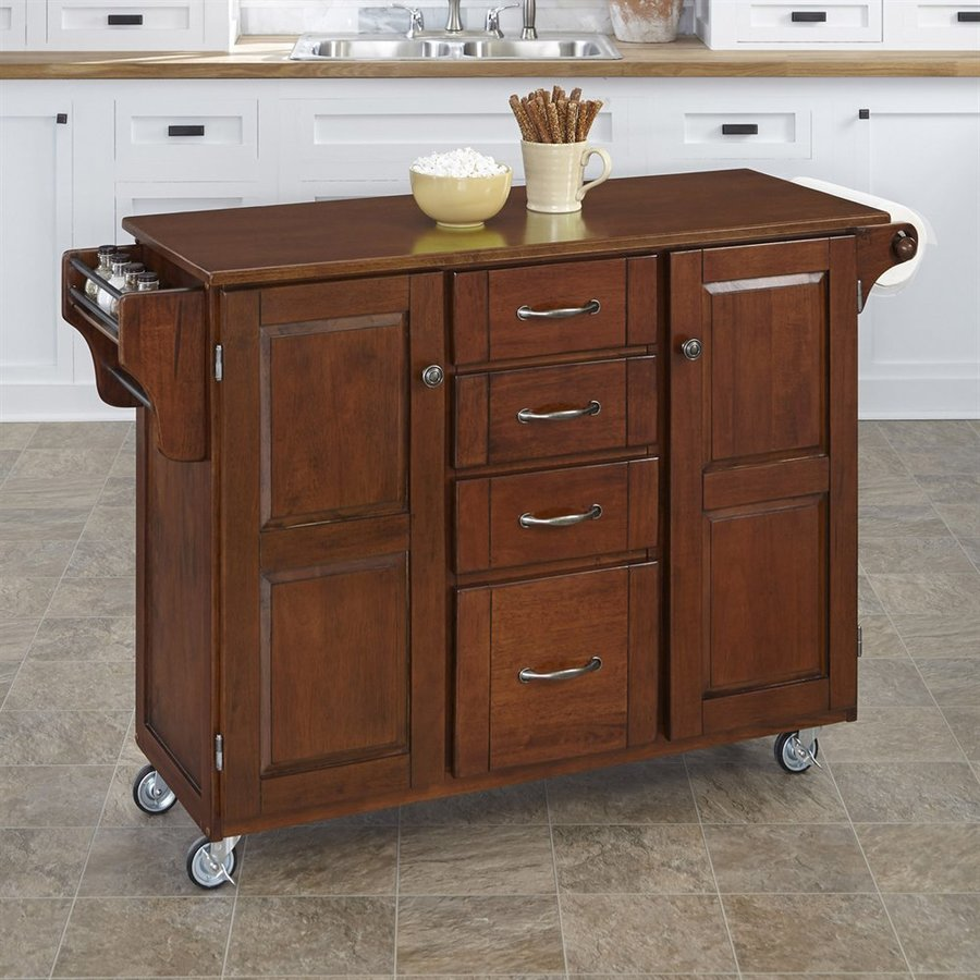 Home Styles Brown Eclectic Kitchen Cart