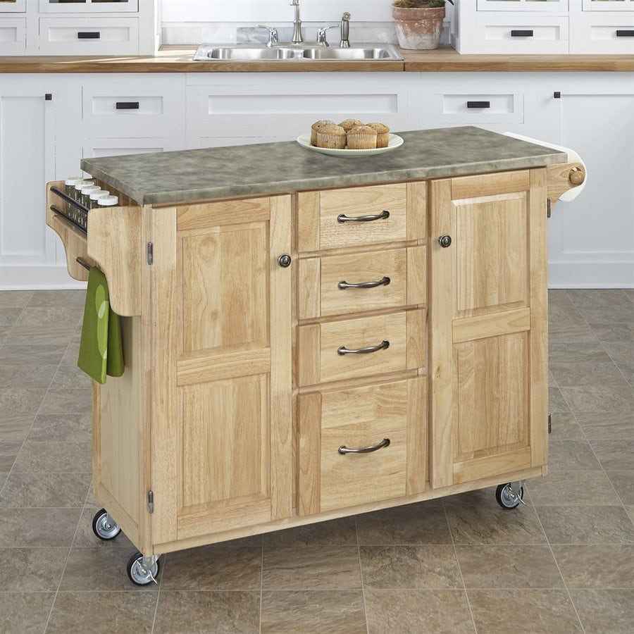 Home Styles Brown Farmhouse Kitchen Islands At Lowes Com: Home Styles Brown Scandinavian Kitchen Carts At Lowes.com