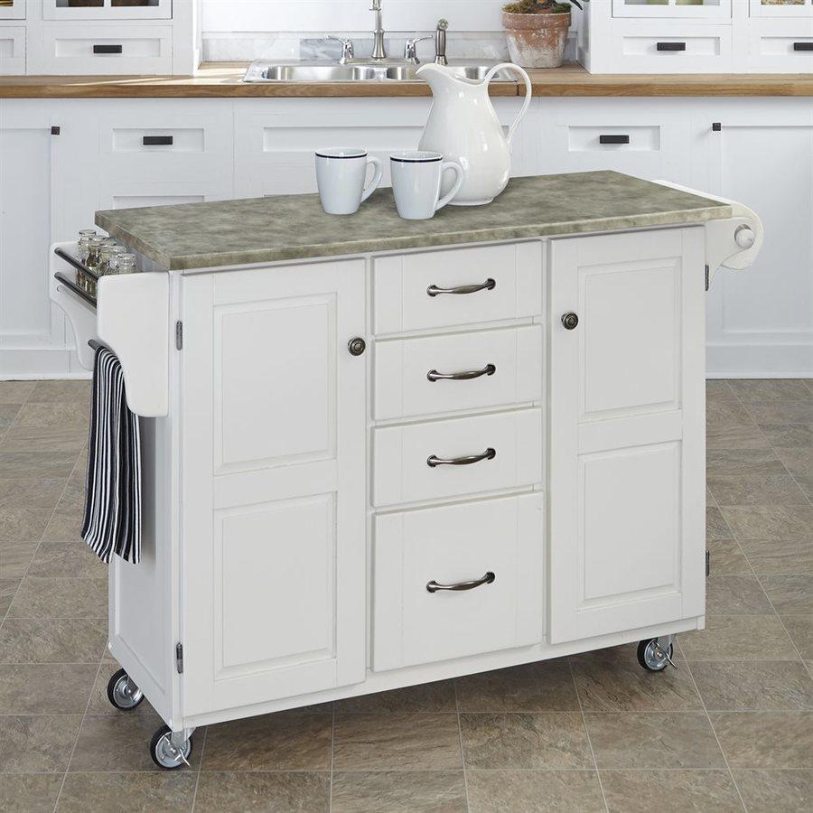 Home Styles White Scandinavian Kitchen Cart