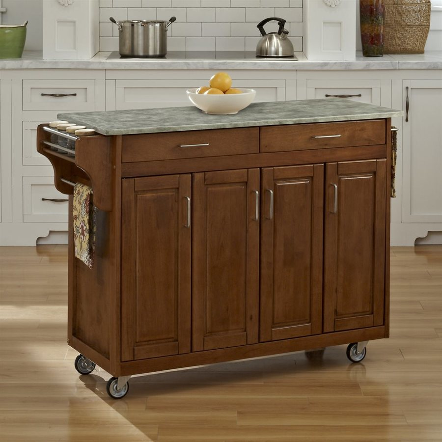 Home Styles Brown Scandinavian Kitchen Carts At Lowes.com