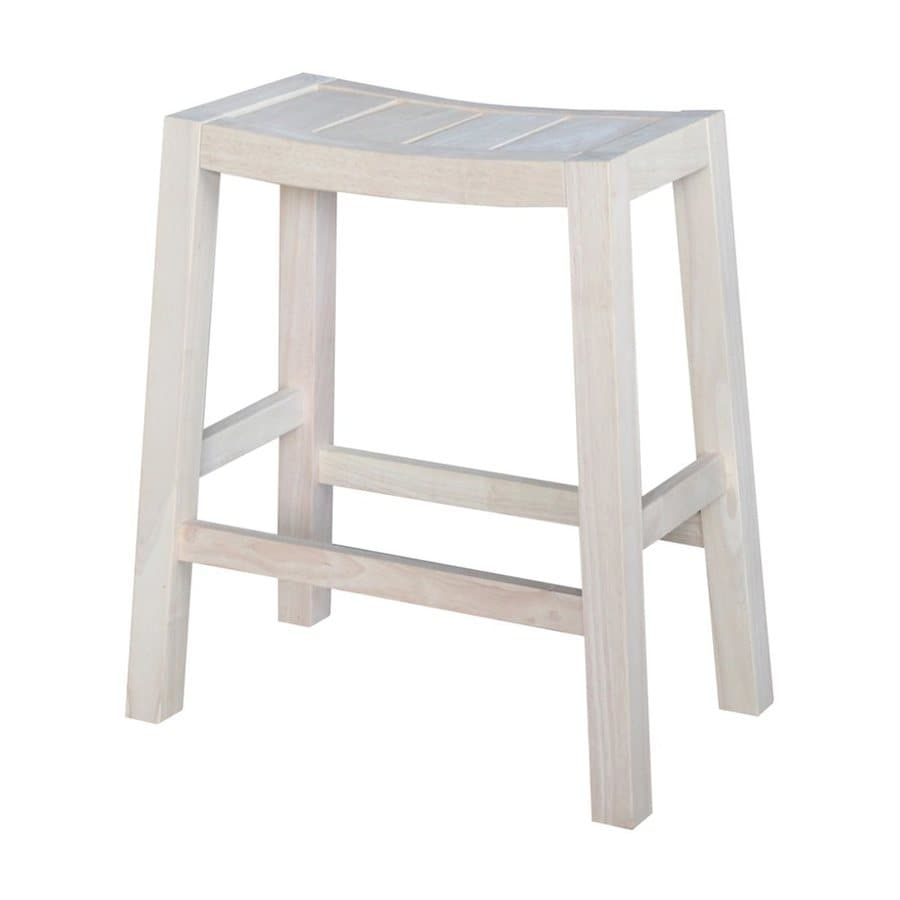 International Concepts Dining Essentials Light Natural Counter Stool