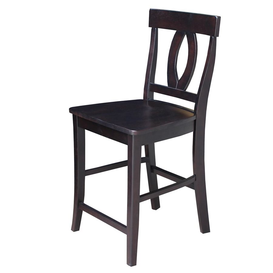 International Concepts Verona Dark Walnut Counter Stool
