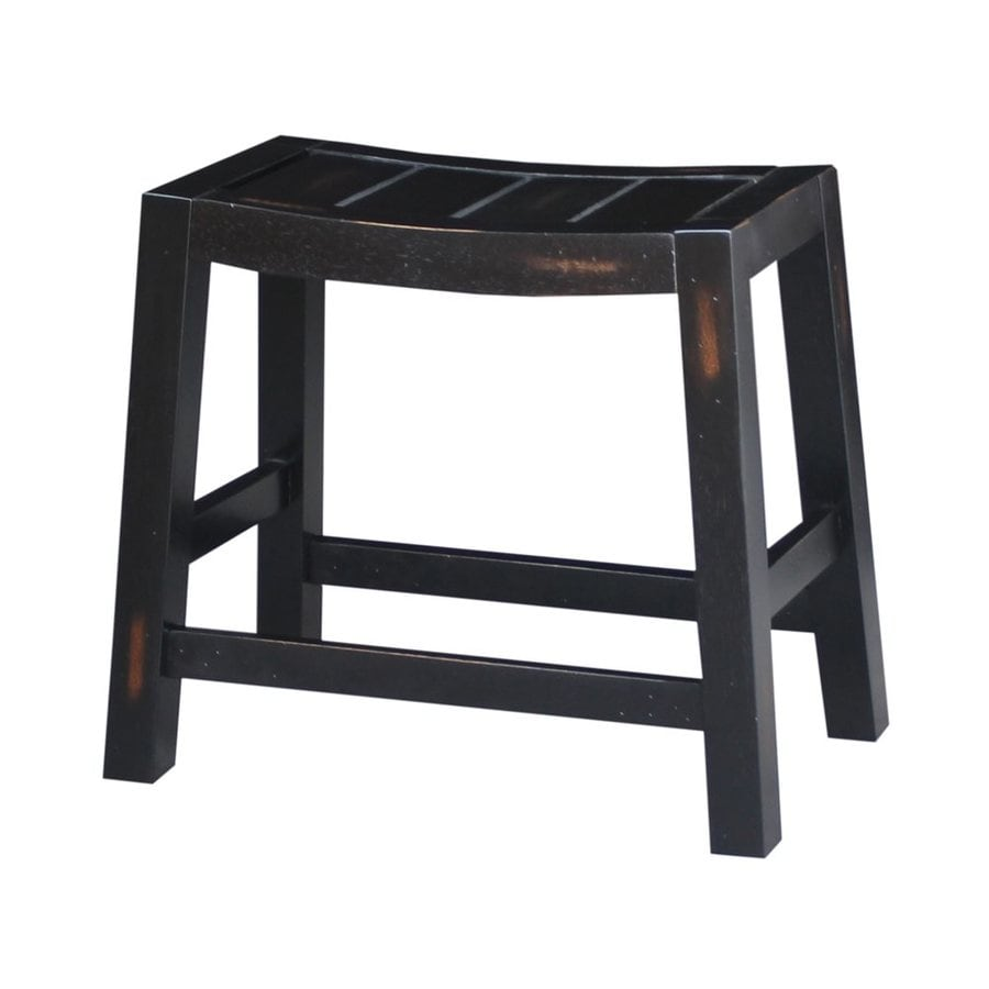 International Concepts Dining Essentials Rustic Aged Black Small Stool