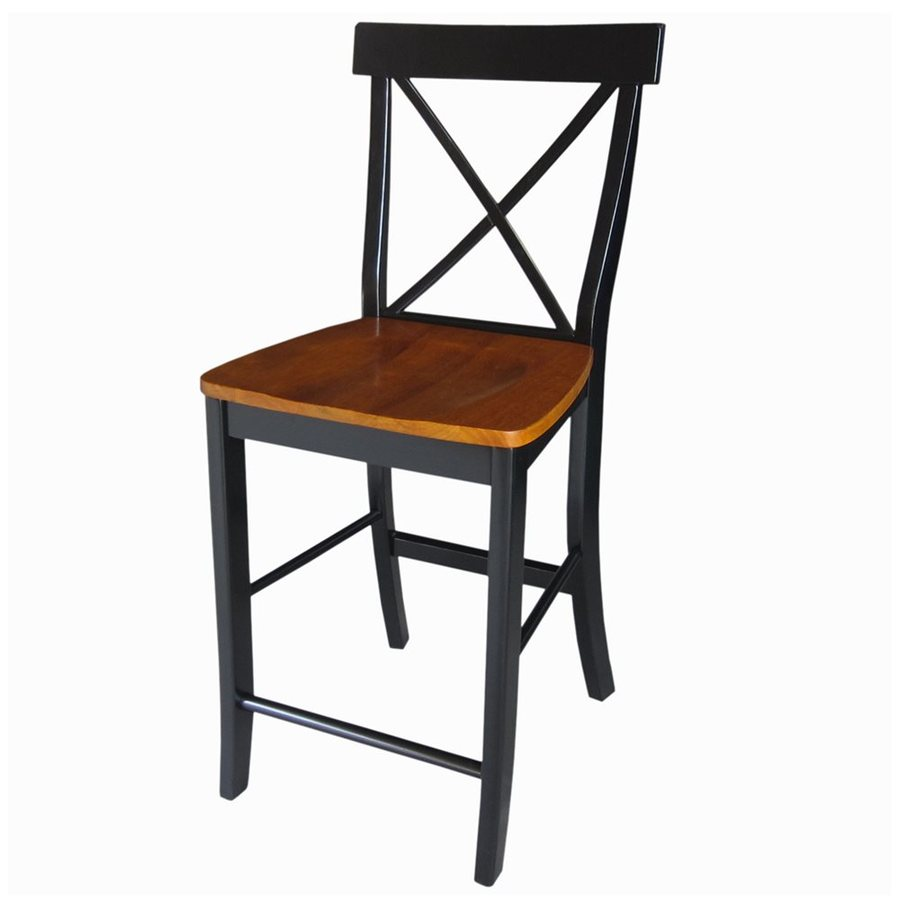 International Concepts Cherry/Black Counter Stool