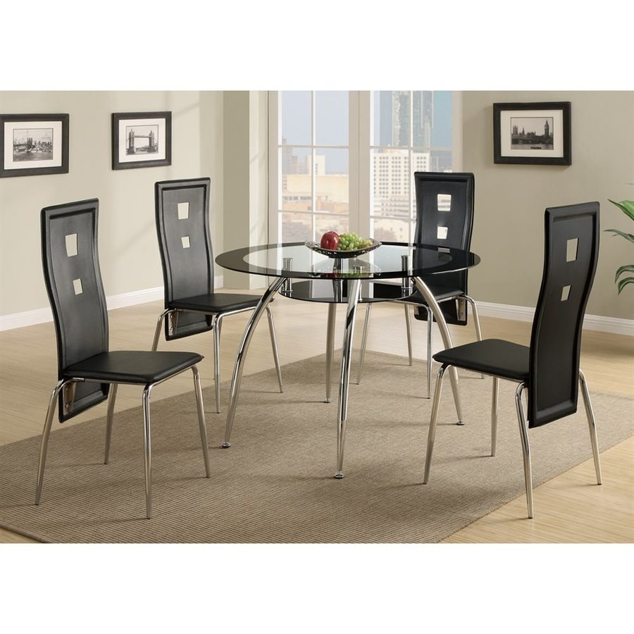 Poundex Set of 2 Contemporary Side Chair