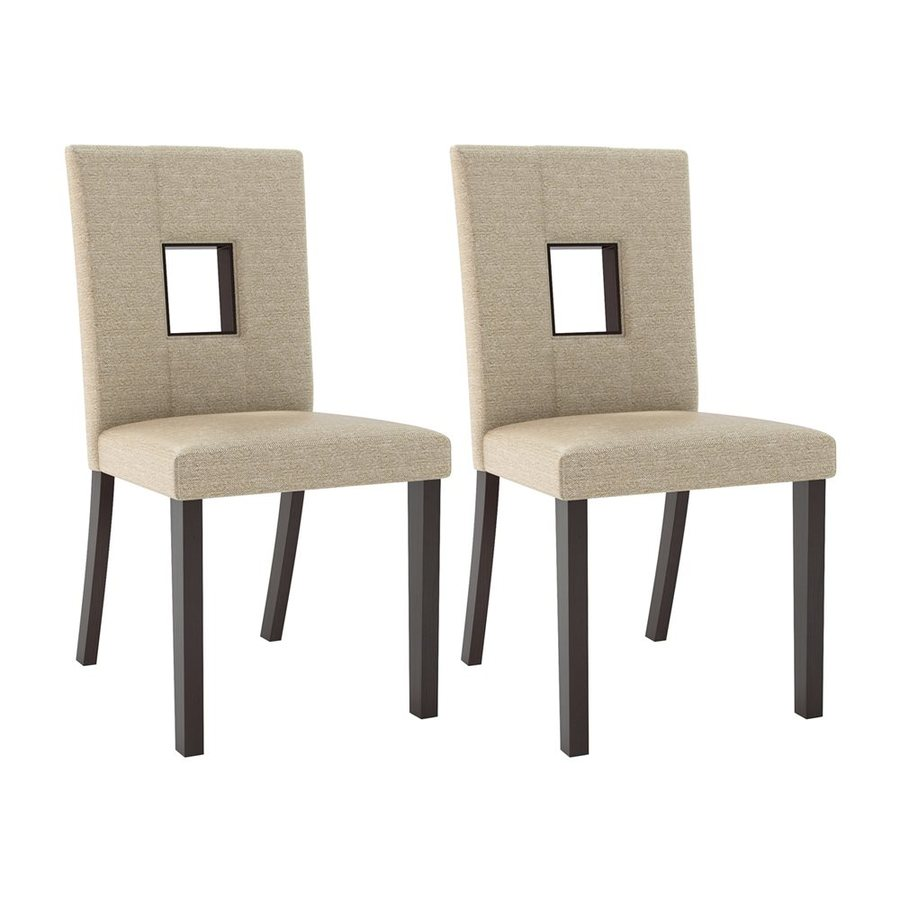 CorLiving Set of 2 Bistro Keyhole Contemporary Side Chairs