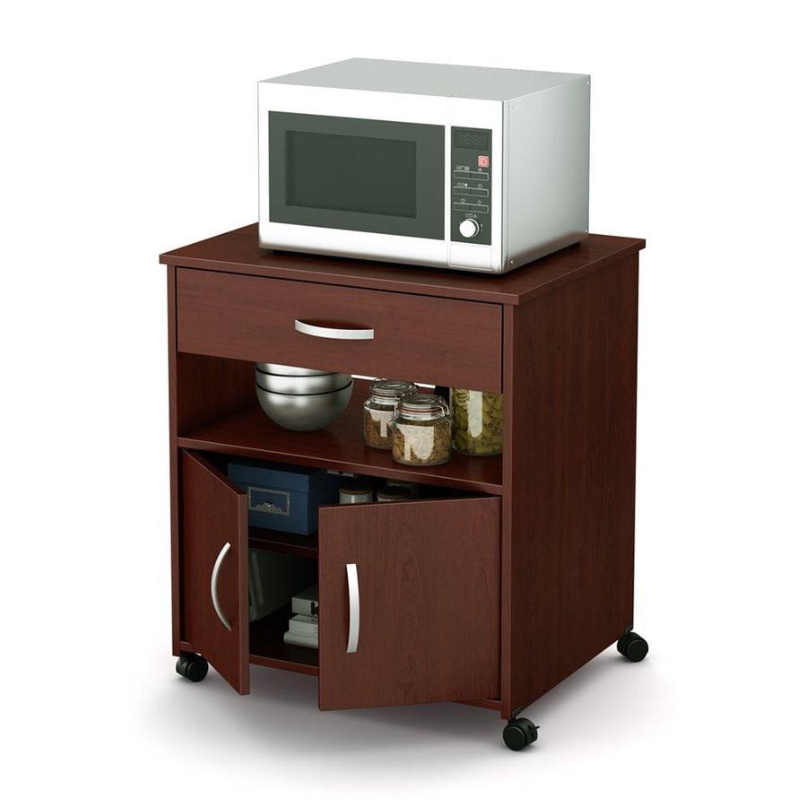 South Shore Furniture Brown Scandinavian Microwave Cart