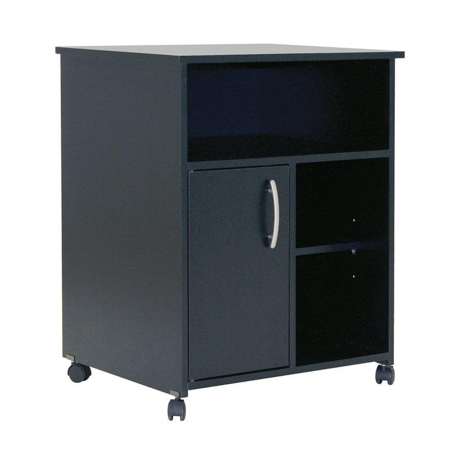 South S Furniture Black Scandinavian Microwave Cart