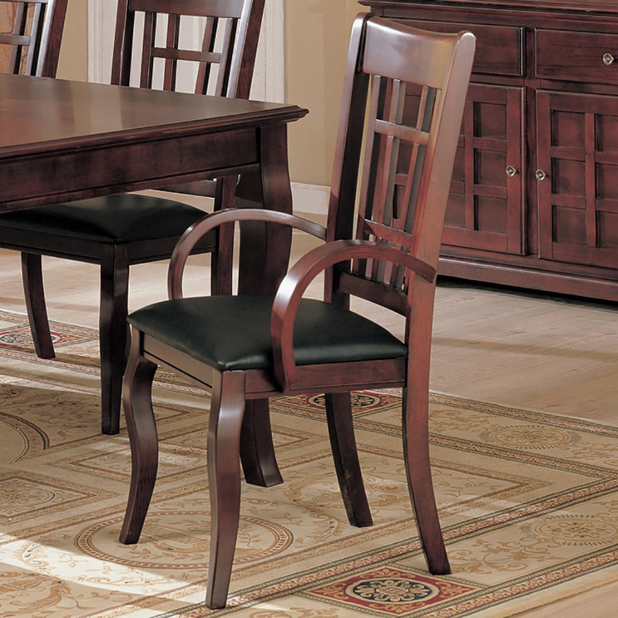 Coaster Fine Furniture Set of 2 Newhouse Black Arm Chairs