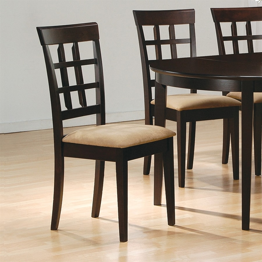 Coaster Fine Furniture Set of 2 Mix & Match Cappuccino Side Chairs