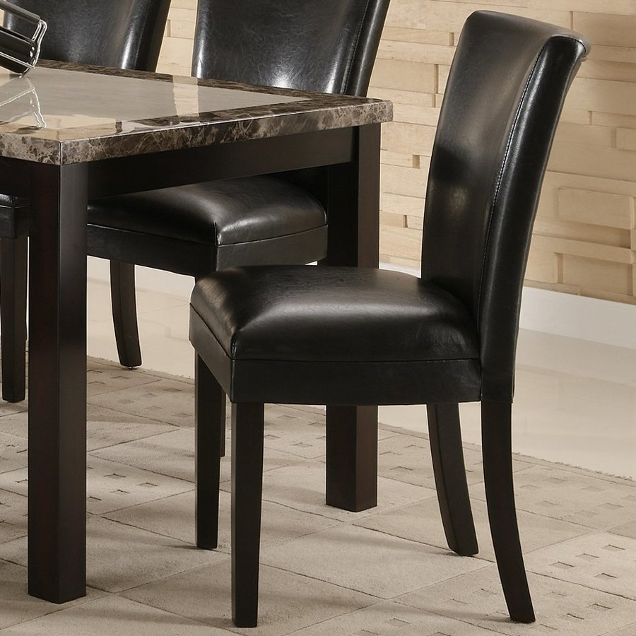 Coaster Fine Furniture Set of 2 Carter Black Side Chairs