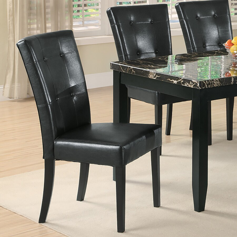 Coaster Fine Furniture Set of 2 Anisa Black Side Chairs