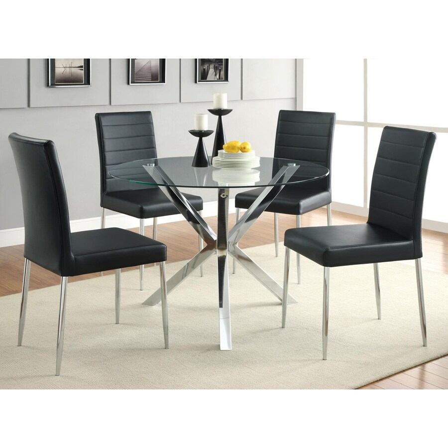 Coaster Fine Furniture Set of 4 Vance Contemporary Black Side Chairs