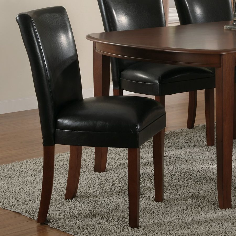 Coaster Fine Furniture Set of 2 Soho Black/Cherry Side Chairs