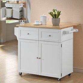Perfect Coaster Fine Furniture White Craftsman Kitchen Island
